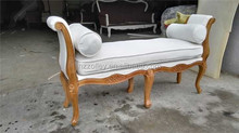 Modern contemporary white color crystal tufted leisure chair golden bed end bench stool