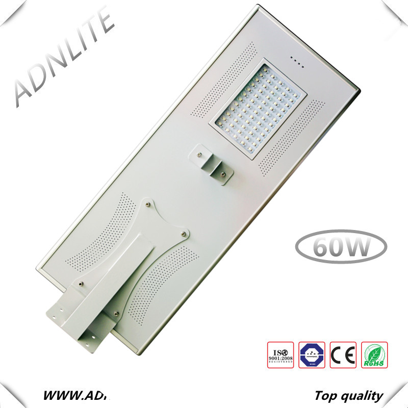 150lm/w CE ROHS 60 watt led street light housing for solar street light all in one