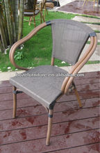 Chair furniture used restuarant outdoor / bamboo like chair garden
