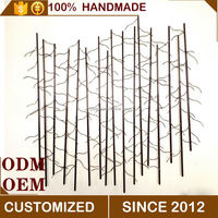 MYEE Hanging Home Wall Metal Bamboo Forest Art Decor