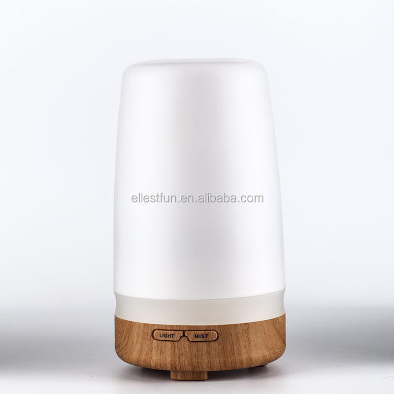 Aroma diffuser wood grain base/ultrasonic aroma diffuser with candle light