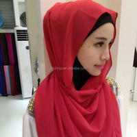 Wholesale long plain color scarf muslim fashion hijab