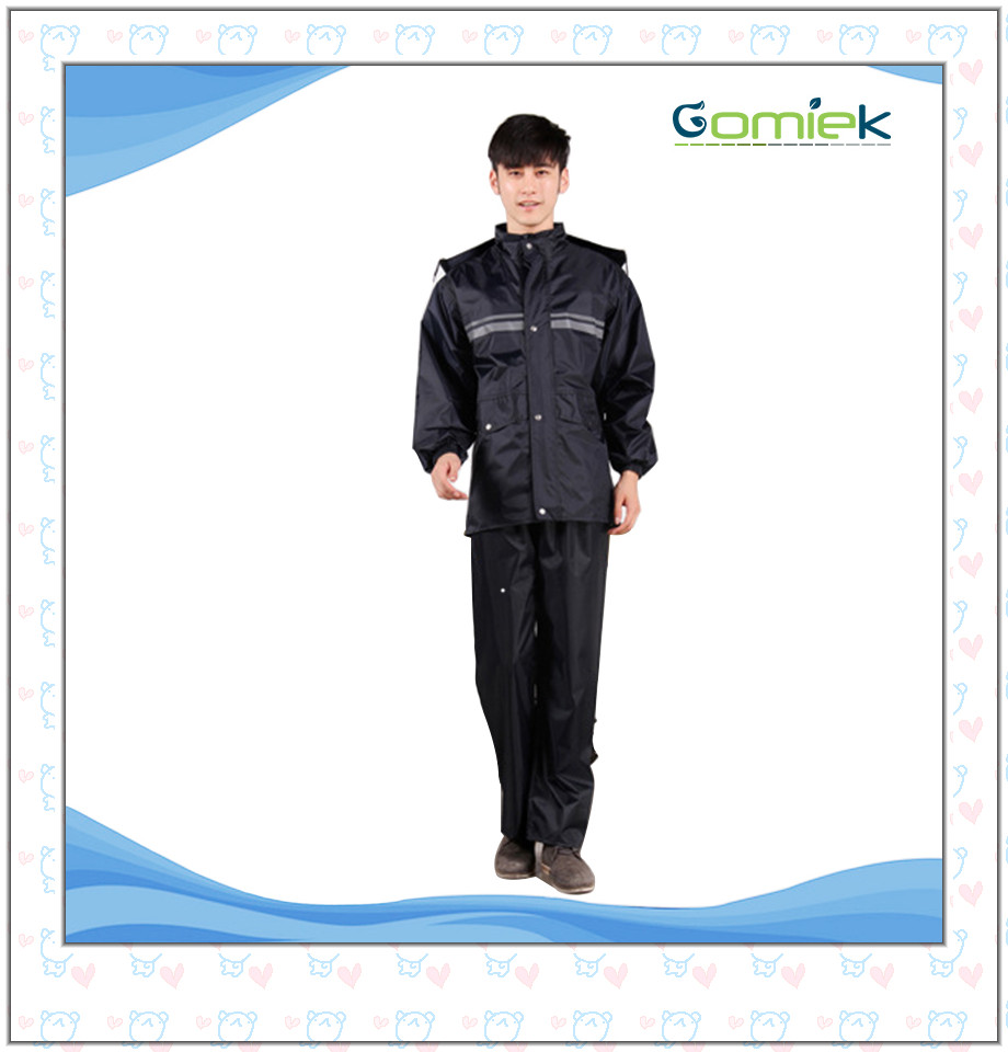 Motorbike Motorcycle polyester pongee Raincoat Rain Coat Rain Suit for Men / Women