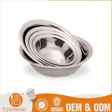 Top Sale Direct Price Large Silver Stainless Steel Fruit Salad Mixing Bowl