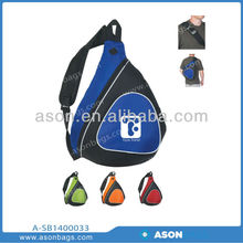 600D polyester sling bag cross body backpack triangle school backpack Chest Bag