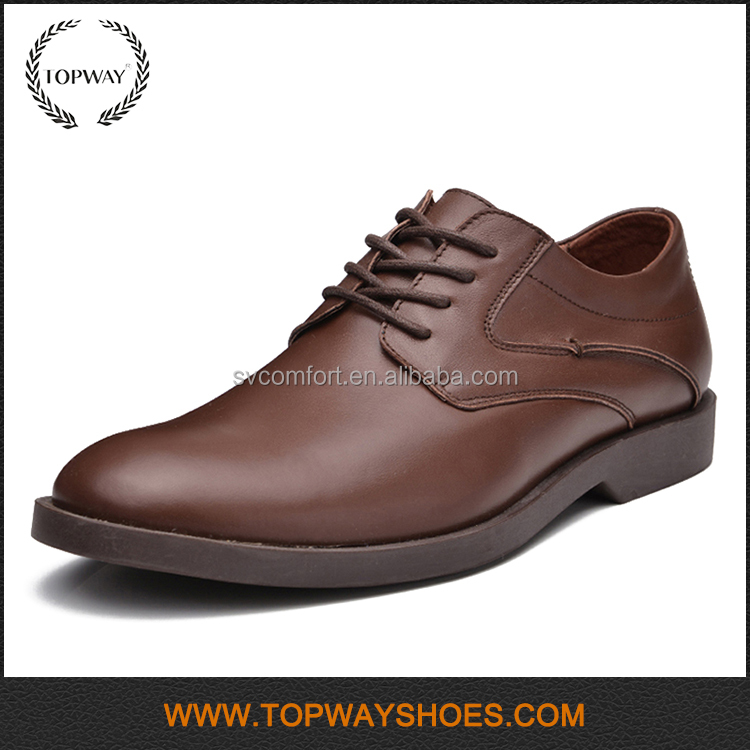 Italian style genuine leather men dress high heel shoes