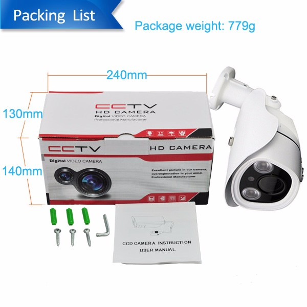 Alibaba Wholesale 1.0 Megapixel 720P 3.6mm lens IR30m Waterproof IP66 HD AHD bullet Camera Supporting mobile app