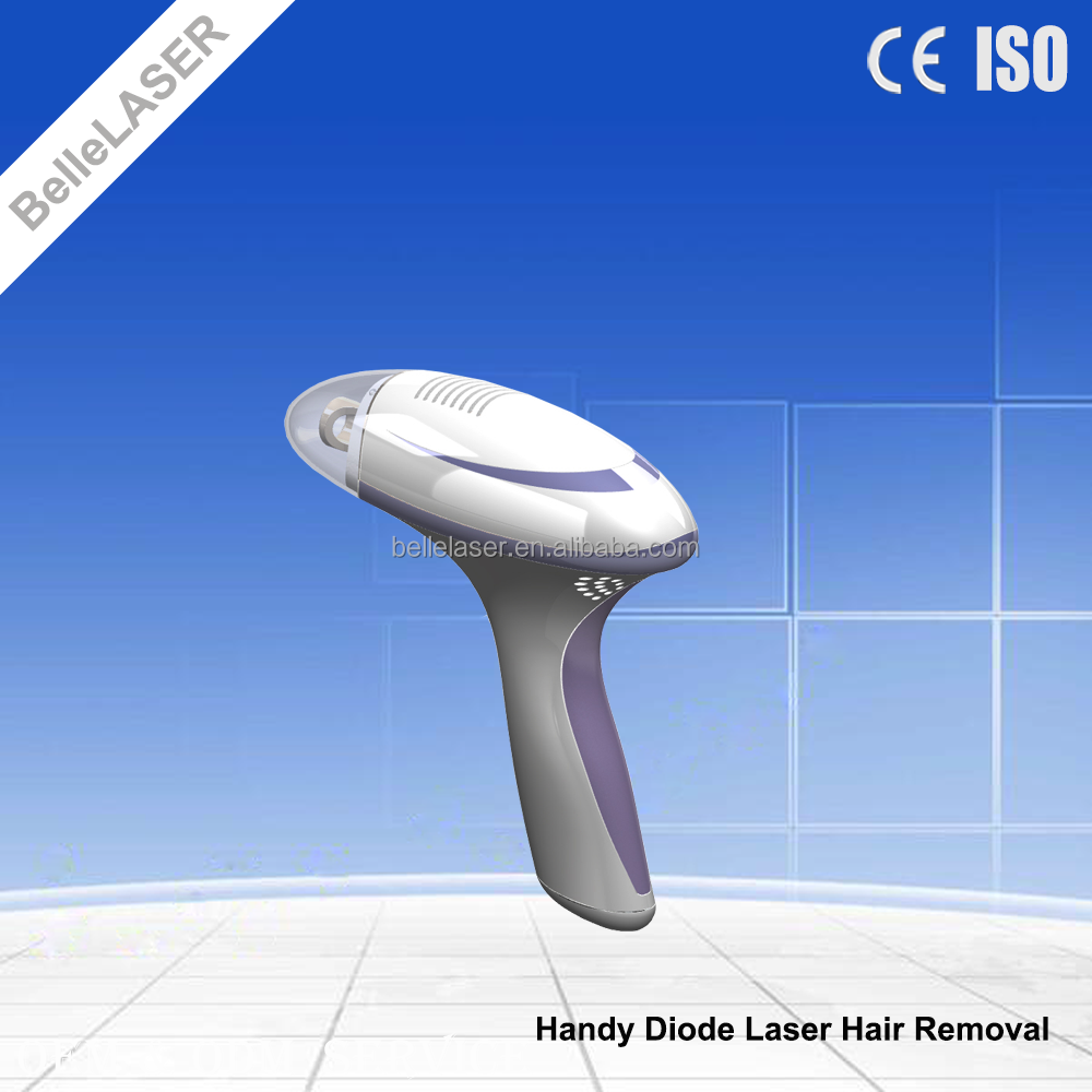 Light weight home use diode laser hair removal device