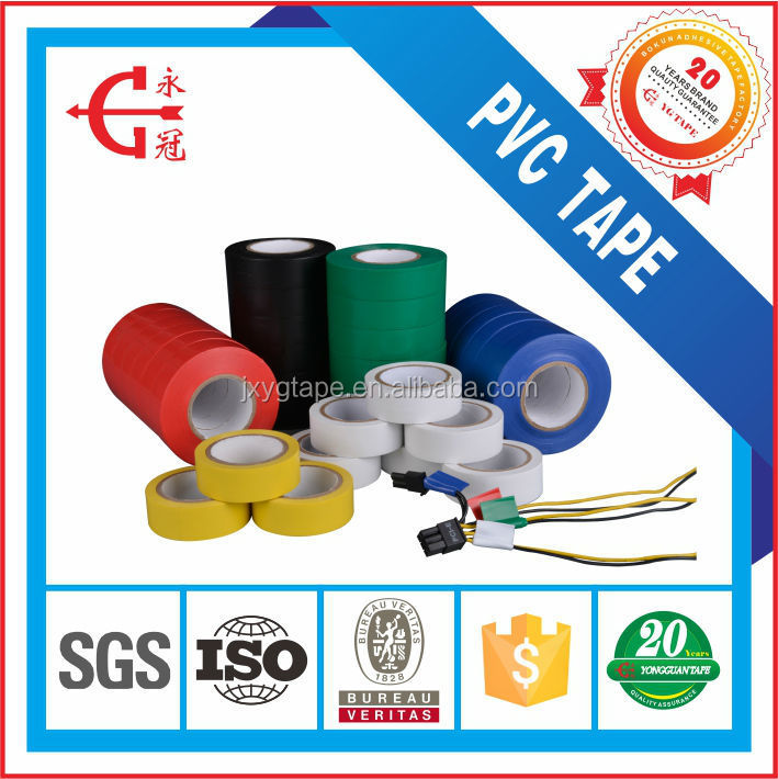 PVC Material Customized Width Colorful Good Insulation Electrical Tape