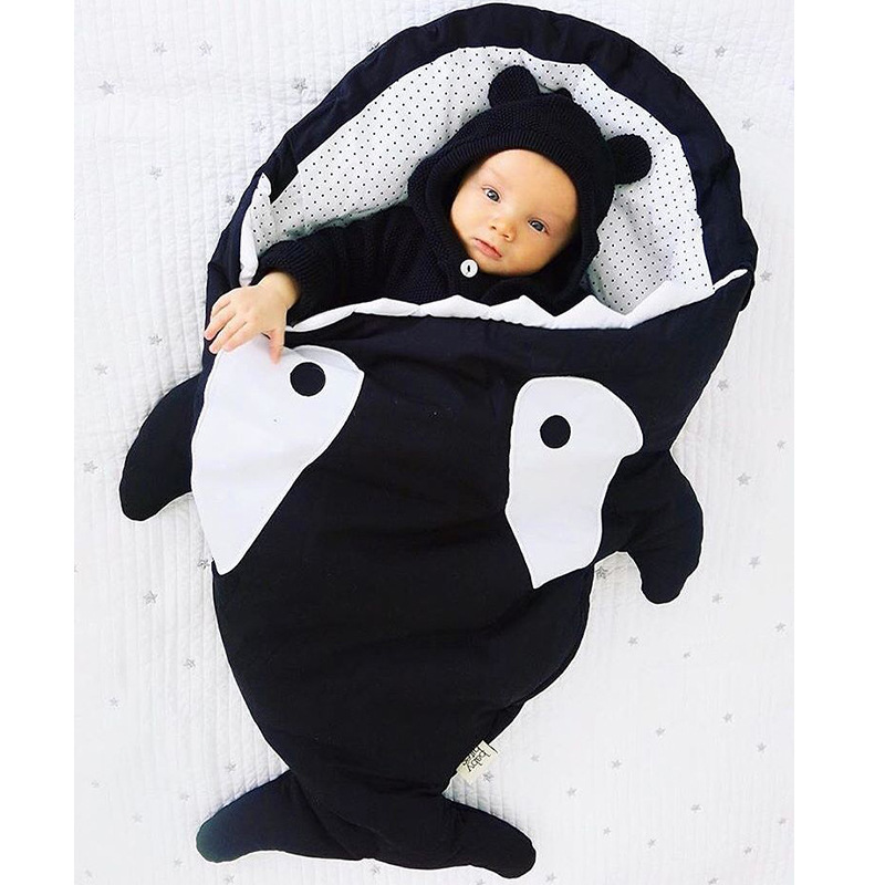 S32717W Shark newborn sleeping bag sleeping bag winter stroller bed swaddle blanket wrap bedding cute baby sleeping bag