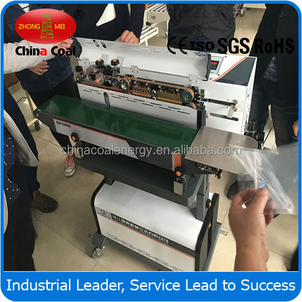 LF1080B Nitrogen Gas Flushing Continuous Band Sealer To Seal Ground Coffee Bags With Date Print