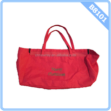 Large Tote Red Merry Christmas Utility Bag Foldable No Wire Thirty One 31 Like