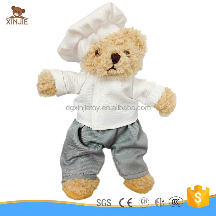 customize plush chef teddy bear toy good quality plush teddy bear manufacturer