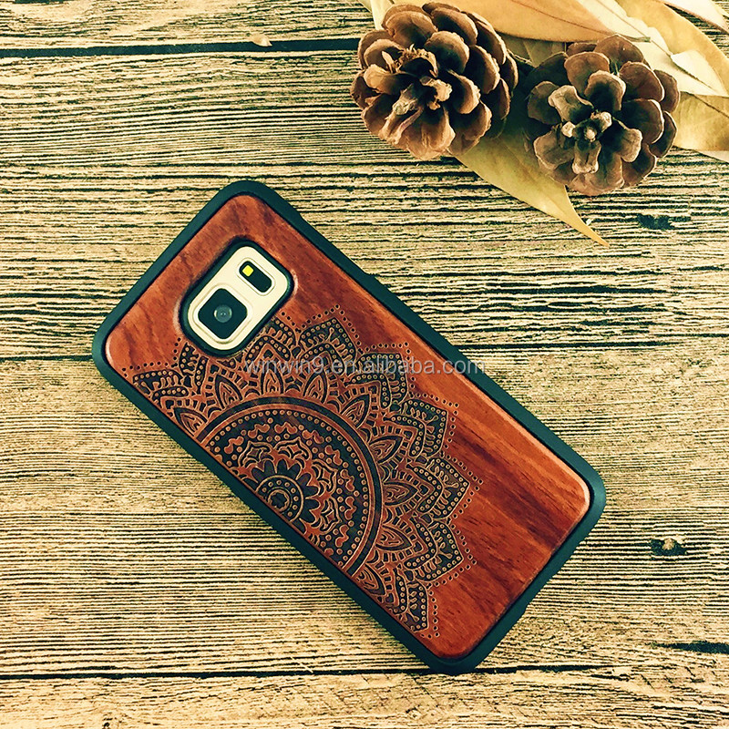 Wholesale hard blank real wood cover for Xiaomi redmi,led phone case for iphone 7plus