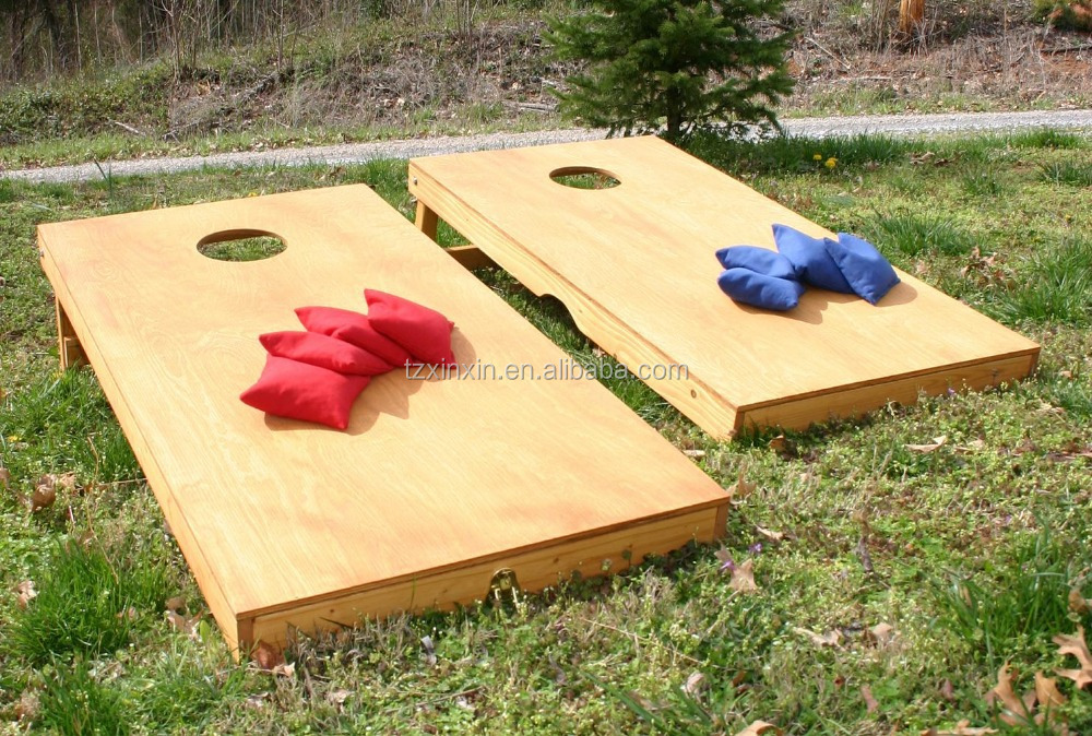 wooden cornhole board bean bag toss game