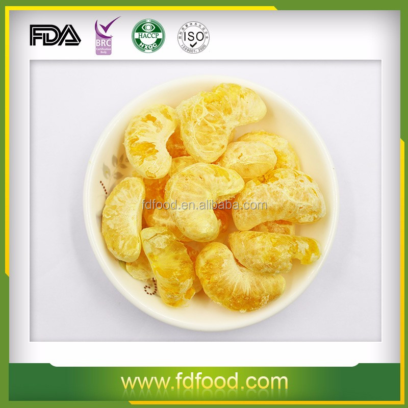 FDA approved FD fruit freeze dried orange