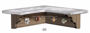 2017 New Wooden Home Decoration ,High Quality Corner Wall Shelf With Hooks