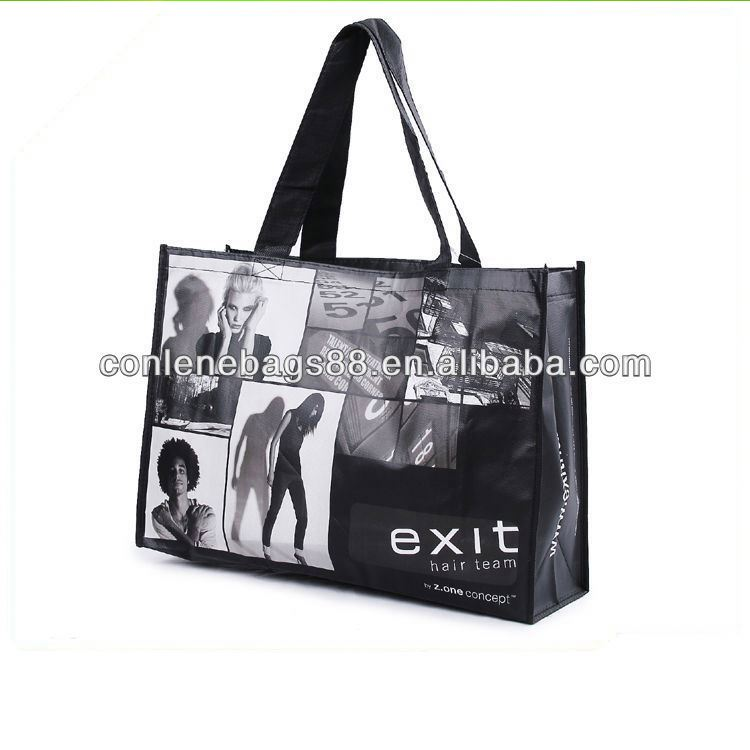 pp nonwoven laminated shopping totes