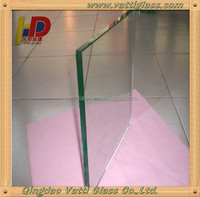 Produce 3mm, 4mm, 5mm, 8mm Low Iron/Water clear /Ultra Clear Tempered Glass Panle