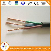 Flex copper conductor pvc insulated 1mm three core cables for home wiring