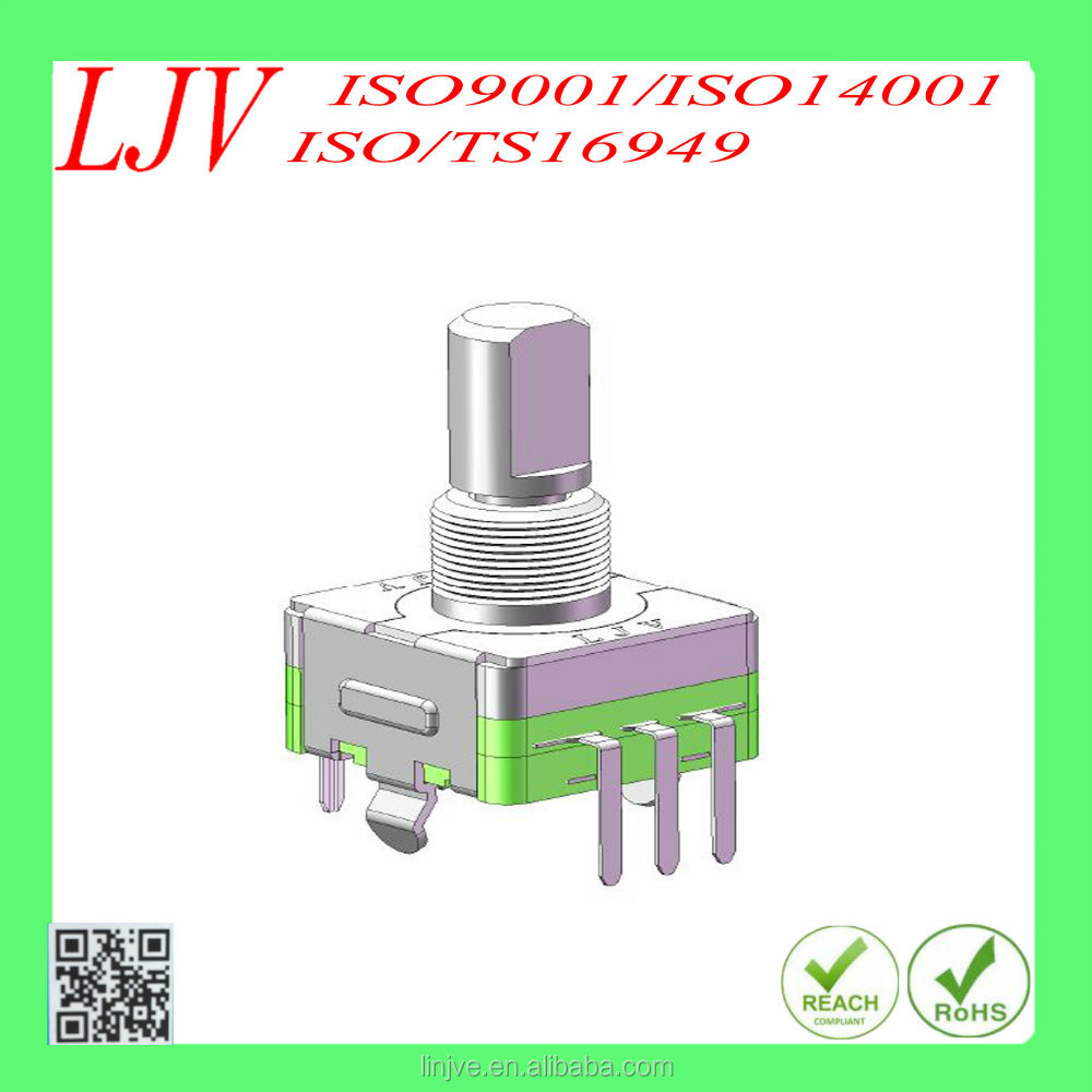 EC11 rotary encoder with push-on switch