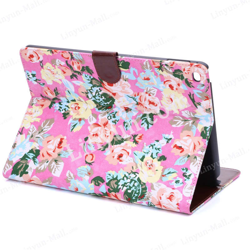 flower pattern leather case for iPad air 2 hot sell product