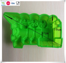 New Silicone three-dimensional cartoon locomotive muffin cake mold cupcake pudding cake/cookie/ice/chocolate train mould
