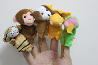 Wholesale Mini Plush Finger Puppets Toys Stuffed funny lovely storytell Plush Animal human puppets Finger doll Toys