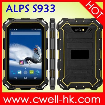 ALPS S933 Rugged Tablet PC 7 inch android 4.4 OS 1GB RAM/16GB ROM waterproof tablet