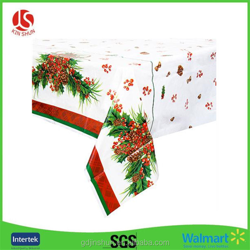 Disposable Party Plastic Table Cover/Tablecloth Christmas