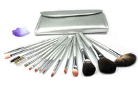 Wholesale 15 Pieces Makeup Brush Collection-Silver Series