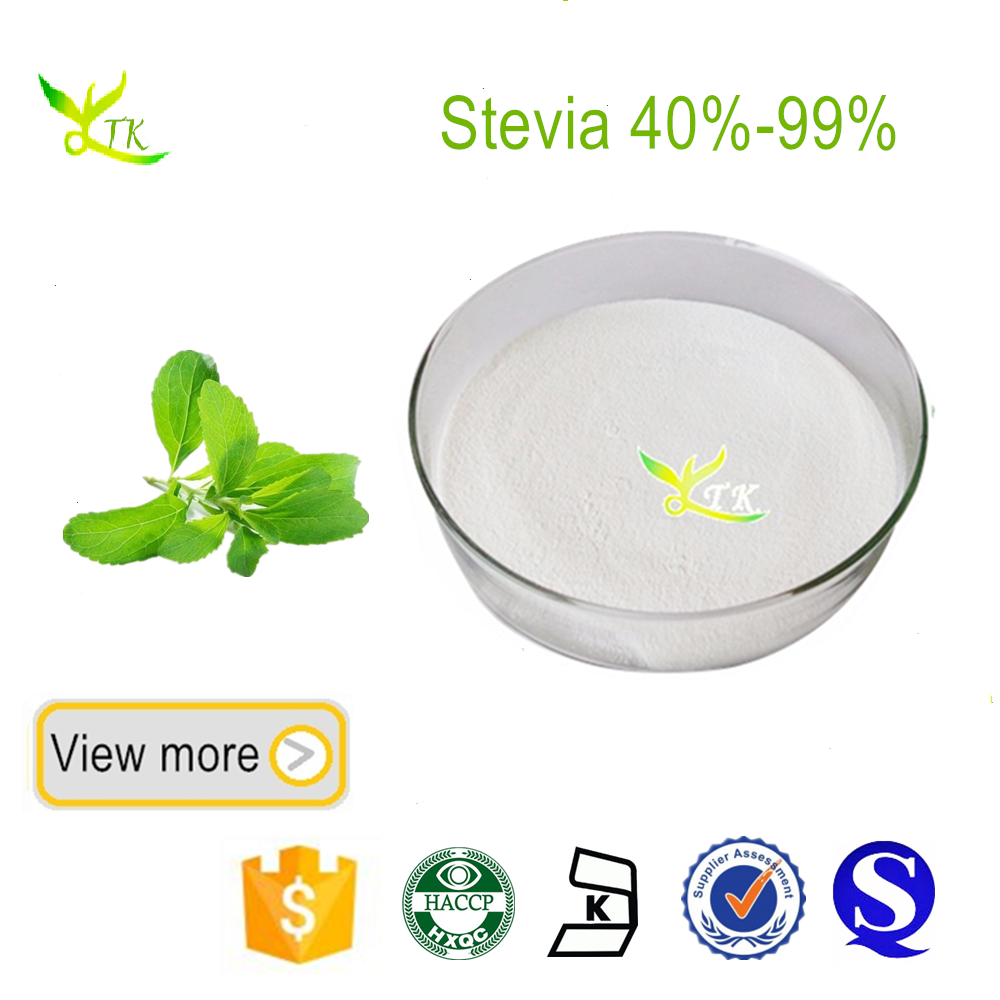 100% natural stevia leaf extract ISO, GMP, HACCP, KOSHER certificated
