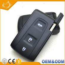 Car Without Chip Waterproof Remote Control Black Folding Smart Key Shell Replacement For Toyota Crown