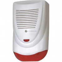 outdoor siren with strobe light for burglar alarm system