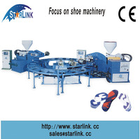 hot sale, automatic 20 stations double color injection moulding upper link shoe machine