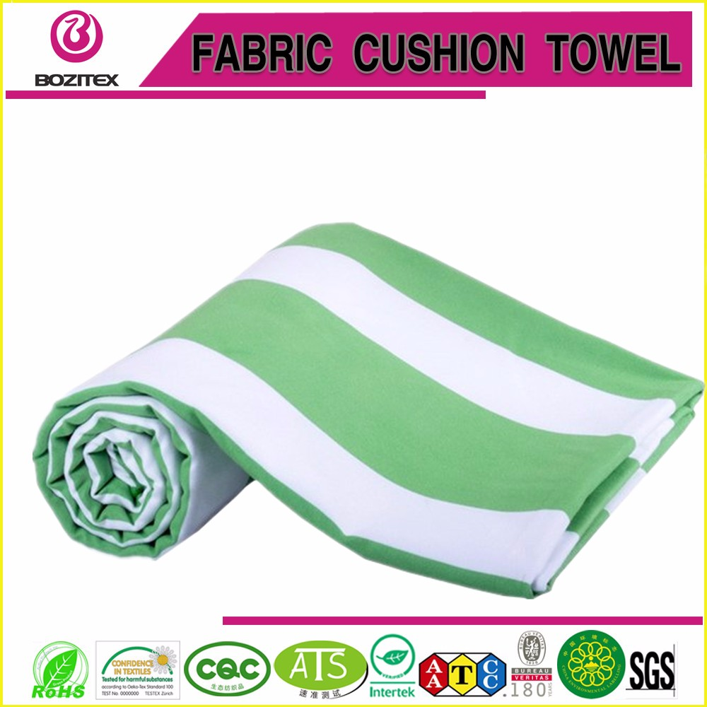 Extremely absorbent Cabana stripe microfiber beach towel