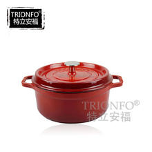 Factory price Trionfo antique cast iron red casserole enamel cookware