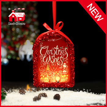 Personalized Glass Christmas Arch Holiday Ornament with LED Light