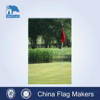 Customized polyester mini golf flags