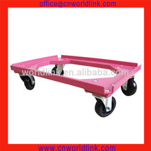 4 Wheels Heavy Duty Plastic Dolly Moving Plastic Pallet Tire Dolly Cart