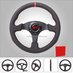 China Manufacturer 330mm Grain Leather Aftermarket Racing Steering Wheel