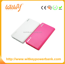 Model of the wallet design power bank 12000 mAh extra large capacity mobile power 3 piece set
