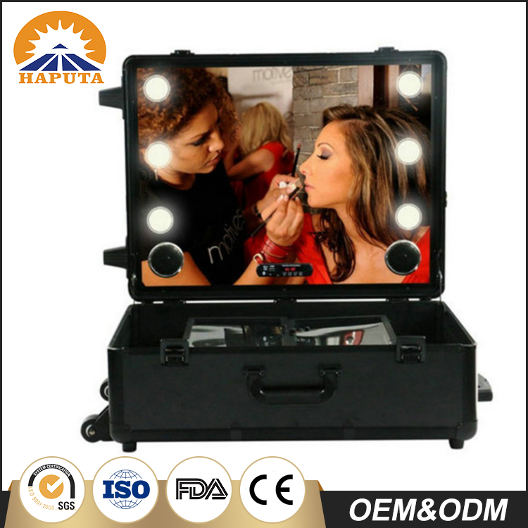 LED Makeup Case with USB Bluetooth Music Player