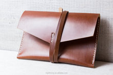 Personalized, hand stitched from leather. Lightweight phone/pad case.Messanger bag.Vintage Brown shoulder bag hangbag