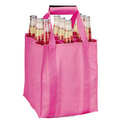 Wholesale large capacity 9-bottle non woven wine shopping bag/heavy duty wine bottle bag