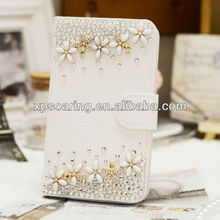 Designed rhinestone leather case pouch for Samsung Galaxy S4 i9500