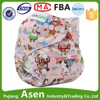 Asenappy Reusable and washable baby nappy printed cloth diapers