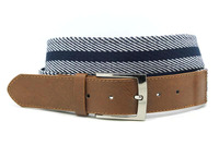 High quality western mens cotton webbing fabric belt