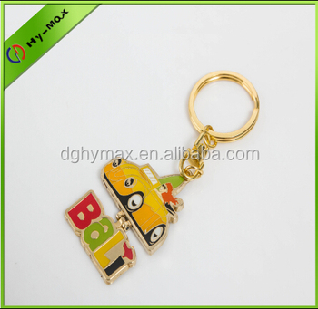 2014 new product car shaped rotatable keychain