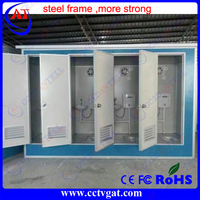 Outdoor waterproof Steel anti vandal portable Toilet booth street toilet container house for toll system